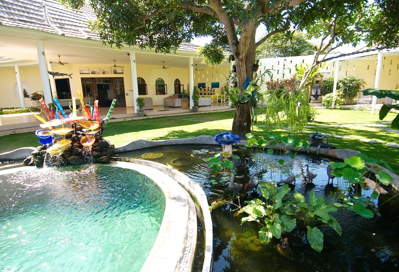 Pool & pond at Villa Costa Plenty, Sanur, Bali