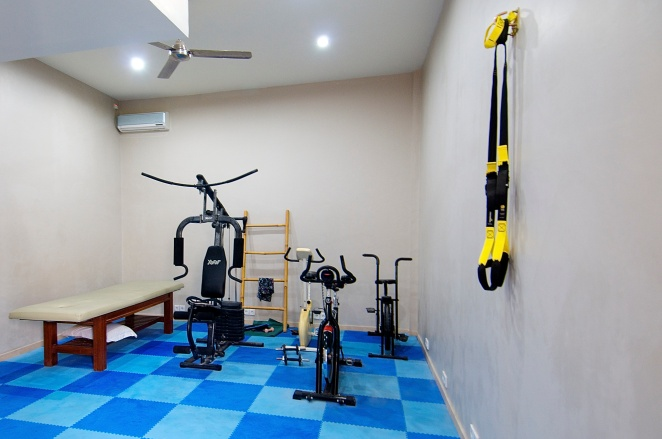 The gym & massage room