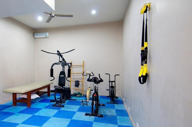 The gym & massage room